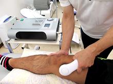 大腿筋損傷に対する高周波温熱治療