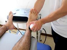 足関節痛に対する高周波温熱治療